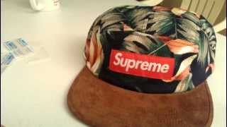 Supreme Floral Suede Navy Camp Cap Review Spring Summer 2012 Red Box Logo