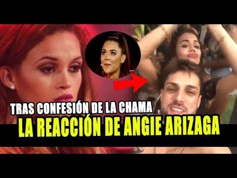 ANGIE ARIZAGA REACCIONA POR DECLARACIÓN DE AMOR DE 'LA CHAMA' A NICOLA PORCELLA