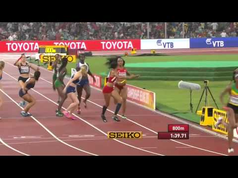 Brilliant run by Team Jamaica and USA in women's 4x400m Final World Champs 2015
