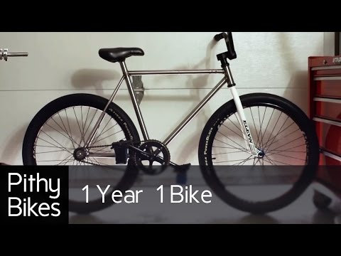 1 Year 1 Bike - Bicycle Frame Build, Machining Milling, Lathe, Jig, Tig Weld