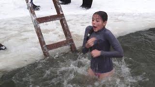 Купание в проруби на Крещение Господне в Каблуково