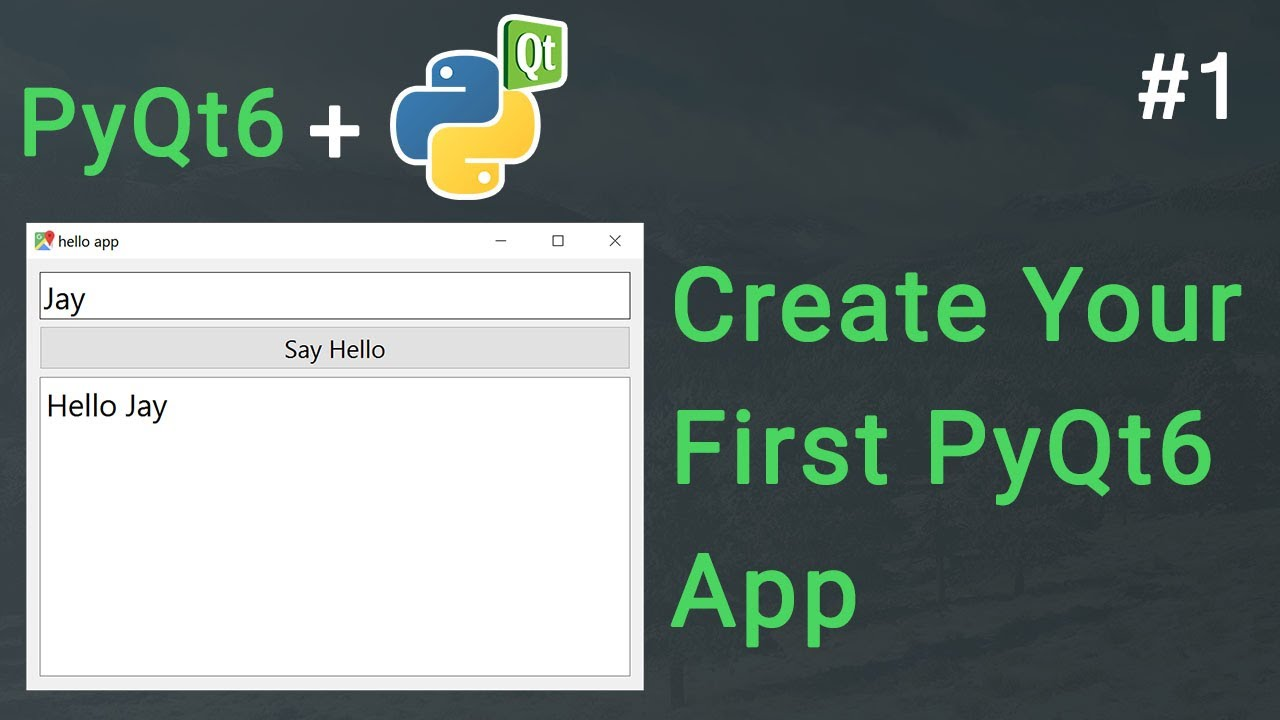 Create Your First GUI App in Python | PyQt6 Tutorial