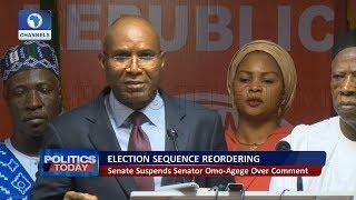 Senate Suspends Senator Omo-Agege Over Comment Pt 2   Politics Today  