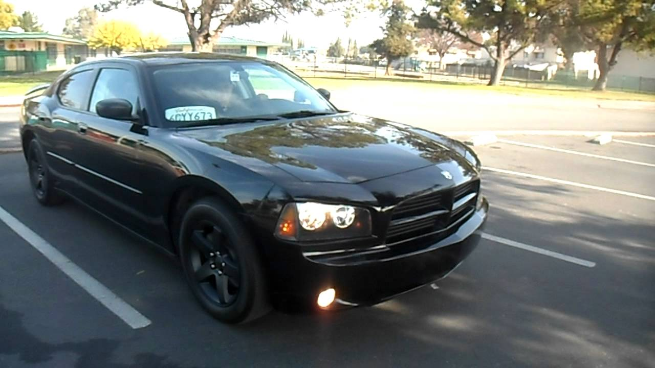 black 2008 dodge charger - youtube