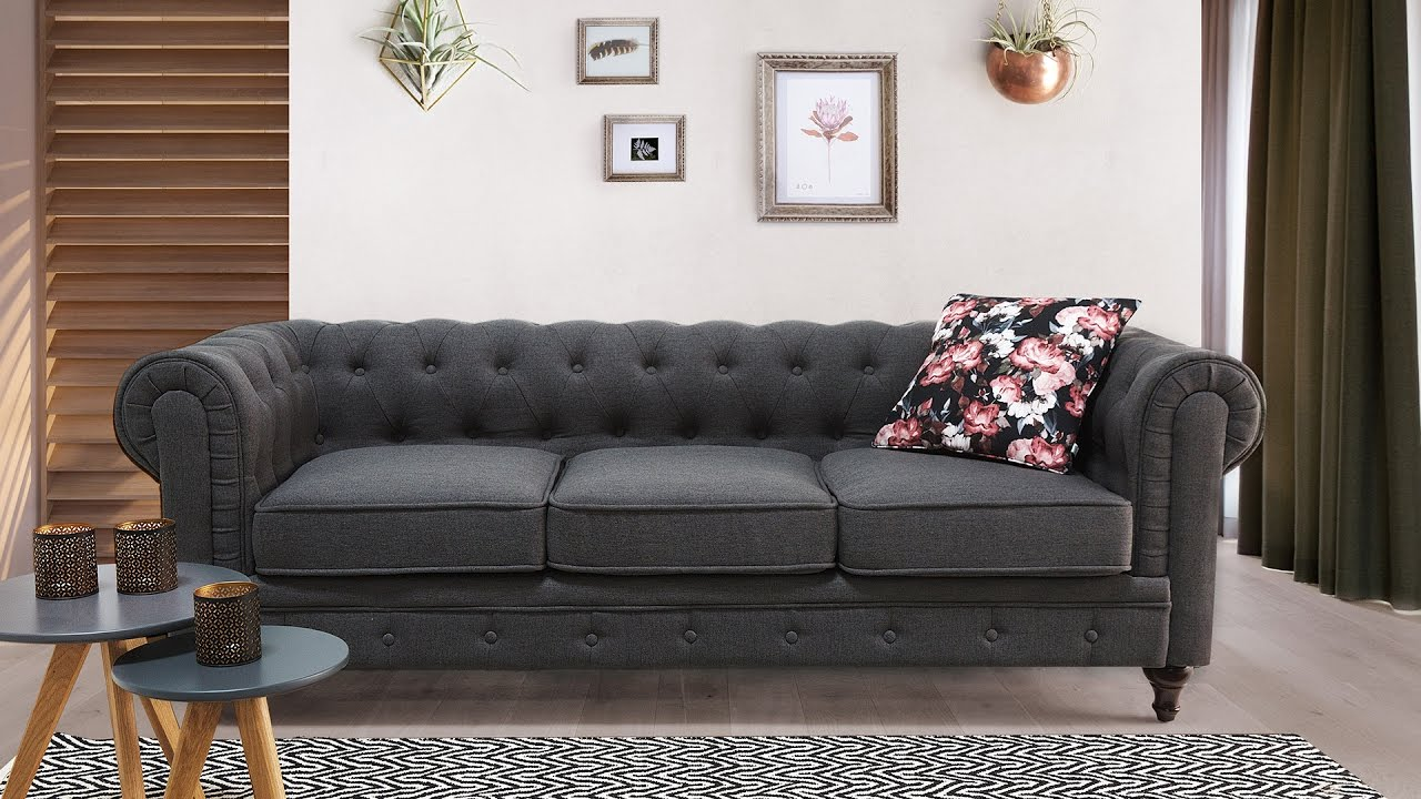 sofa canap chesterfield beliani youtube. Black Bedroom Furniture Sets. Home Design Ideas