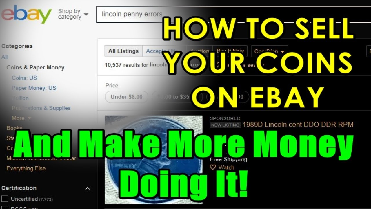 how to make money selling coins on ebay