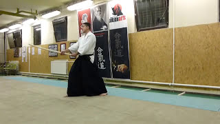 ashi no fumikae mae kirikaeshi [TUTORIAL] basic Aikido weapon technique