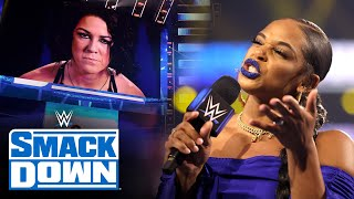 Belair and Bayley engage in war of words ahead of WrestleMania Backlash: SmackDown, May 14, 2021