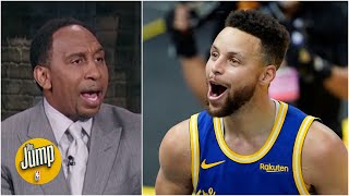 Stephen A. reacts to Steph Curry breaking James Harden's single-month 3-pointers record | The Jump