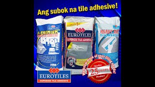 How and where to use Eurotiles Tile Adhesive (Power Trio)?