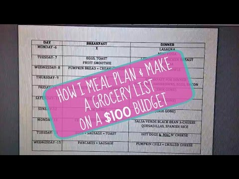 How I Meal Plan and Make a Shopping List- Grocery Budget (part 1