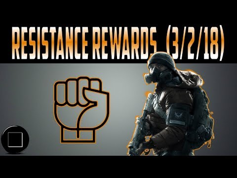 The Division - Weekly Resistance Rewards