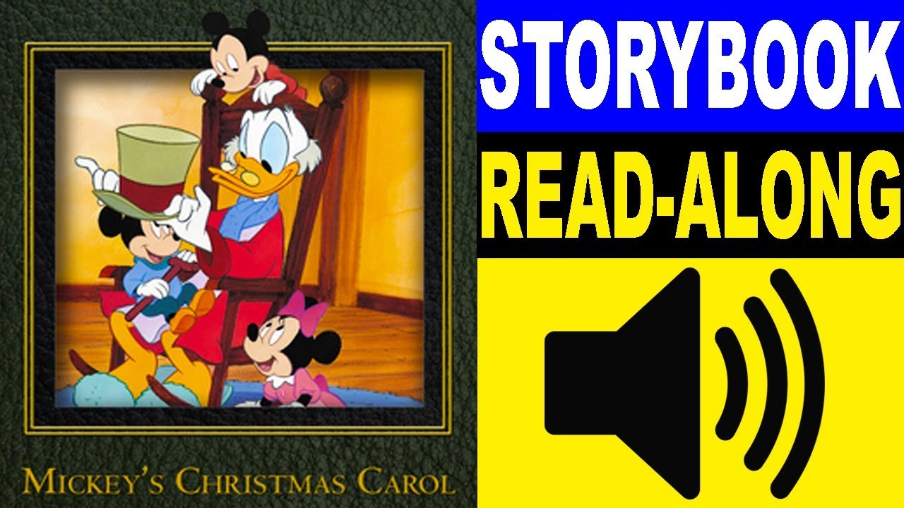 Mickeys Christmas Carol Book.Mickey Mouse Read Along Story Book Mickey S Christmas Carol Read Aloud Story Books For Kids