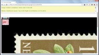 Introduction on Stamp Collecting Blog's digital perforation gauge