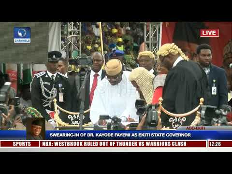 Kayode Fayemi Sworn-In As Ekiti State Governor Pt.3 |Live Event|