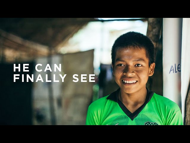 Alexander Can See Clearly After Successful Eye Surgery - Compassion International