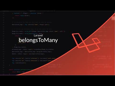 Tutoriel Laravel : belongsToMany : Système de tags