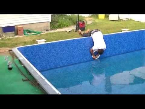 Pool Liner Replacement Part 4 Installing Skimmers Light Jets And Steps Coping You