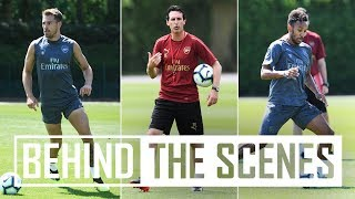 Unai Emery's first Arsenal training session | Exclusive behind the scenes