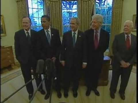 All Living Presidents Meet Obama in White House: 01/07/09