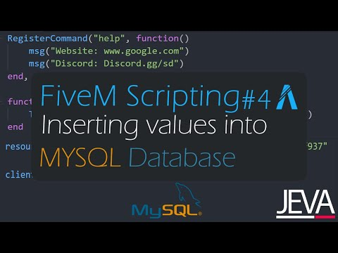 FiveM Scripting 9 - Setting Up MYSQL Database And Inserting Values In It.