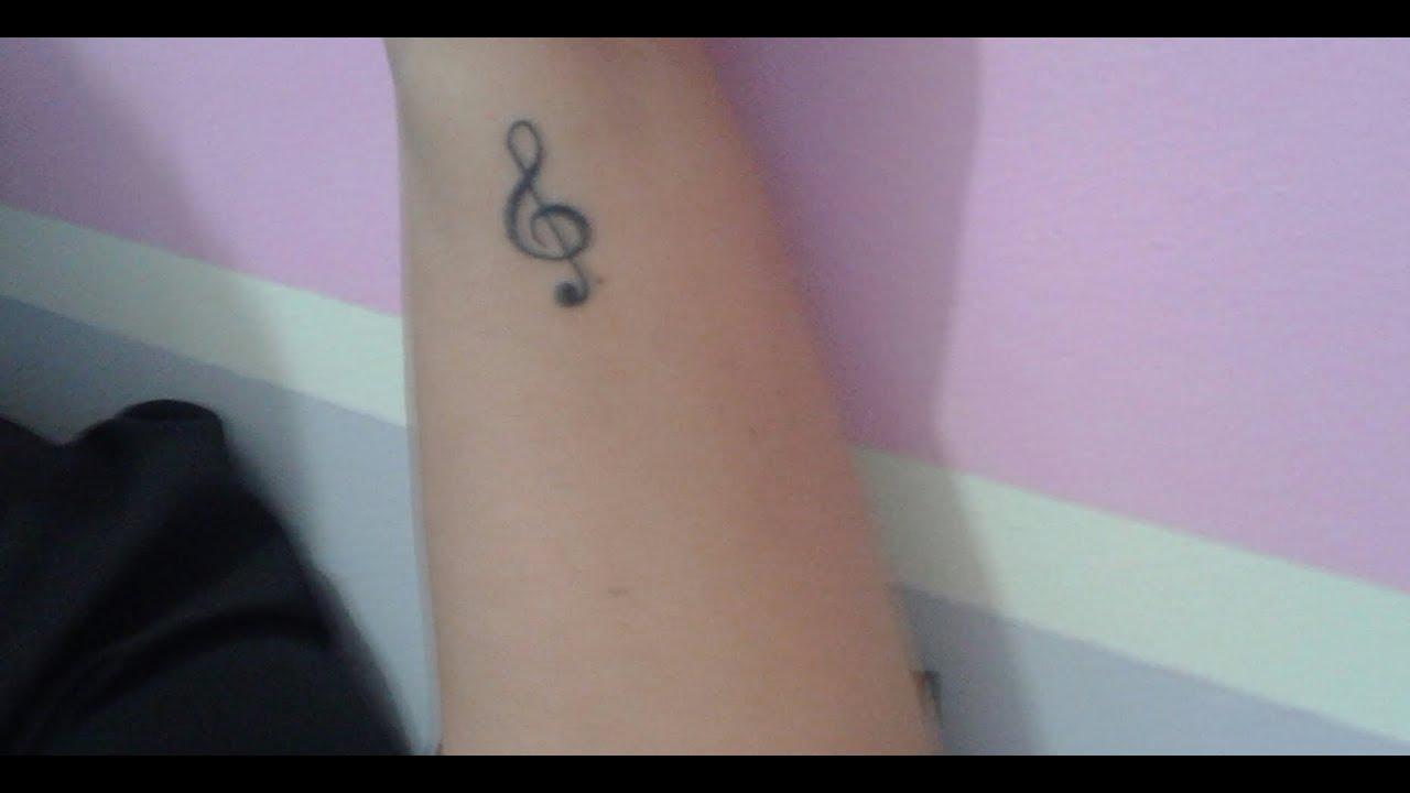 Tatuagem De Música Clave De Sol 2ª Tatto Youtube