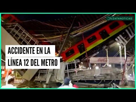Accidente en la Línea 12 del Metro | Cae convoy cerca de la estación Olivos