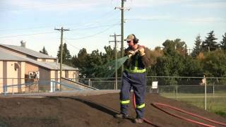 Red Deer County - Hydroseeding At The Delburne Skate Park 2015