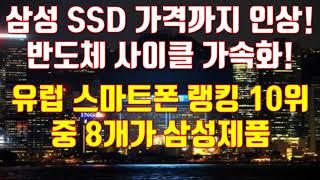 삼성 SSD 가격까지 인상! 반도체 사이클 가속화! 유…