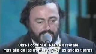 """Bono canta a dúo con Pavarotti """"Miss Sarajevo"""""""