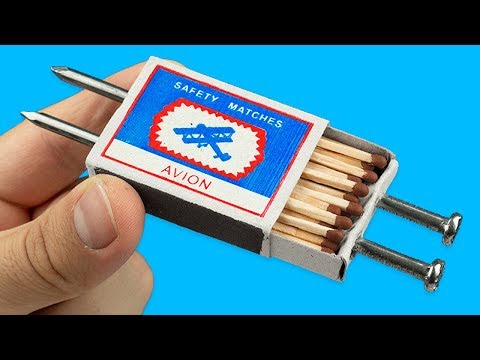 14 TRICKS AND LIFE HACKS WITH MATCHES