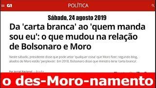 Moro: De pitbull dos banqueiros a poodle do Bolsonaro - Leo Stoppa ao vivo