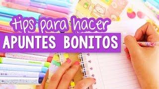 CÓMO HACER APUNTES BONITOS Y PERFECTOS - Tips regreso a clases ✎ Craftingeek