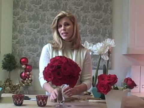 Easy Red Rose Centerpiece Youtube