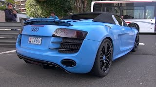 BEST of Audi R8 SOUNDS in Monaco!