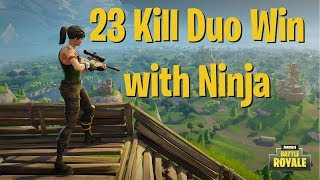 Download Video Fortnite - 23 Kill Duo Win w/ Ninja | DrLupo MP3 3GP MP4