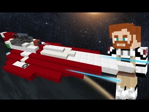 how to build a jedi starfighter in minecraft
