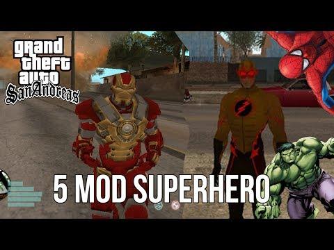 5 MOD SUPERHERO WAJIB Coba di GTA SA ~ Showcase MOD