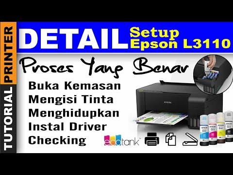 Printer Baru Beli Epson L3110, cara mengoperasikan printer baru epson l3110