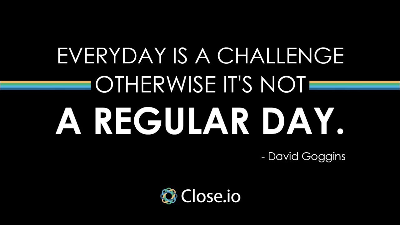 Sales Quote Of The Day Sales Motivation Quote Everyday Is A Challenge Otherwise It's Not