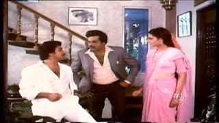 Ravichandran eating comedy scene   Ambarish   Comedy Scenes of Kannada Movies