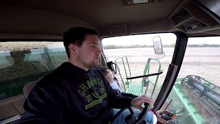 Harvest!!! Teaching the kid to drive combine and trying to beat the rain