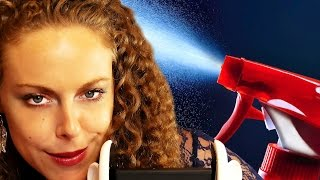 ASMR Spray & Squirt Sounds, Spritz Bottle Water Sounds, Binaural Ear to Ear Whispering | ASMR Massage Psychetruth
