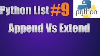 Python List Append Vs Extend Vs Insert || Pop Vs Remove Vs Del Methods Video
