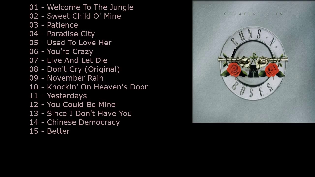 guns n 39 roses best of collection guns n 39 roses songs playlist cover greatest hits youtube