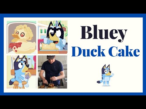 Bluey Cake #2 - The Duck Cake that Bandit makes (DIY attempt)