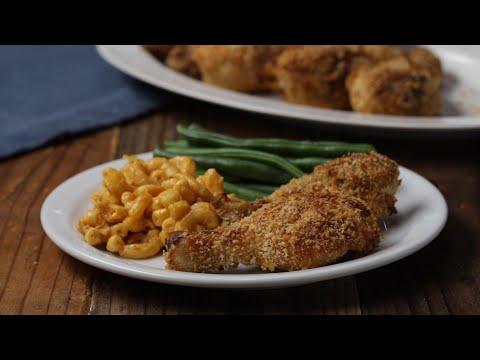 Easy Smoky Oven Fried Chicken •Tasty