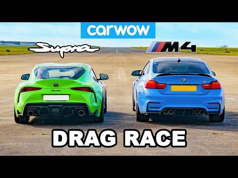 Toyota Supra Vs BMW M4: DRAG RACE!