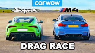 Toyota Supra vs BMW M4: DRAG RACE!
