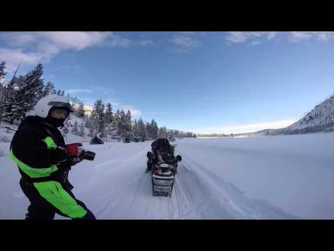 Snowmobile tour to Old Faithful in Yellowstone National Park - GoPro Hero 4